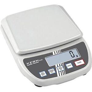 Kern brev skalerer vekt utvalg 6 kg lesbarhet 1 g strømnettet-drevet, batteridrevet hvit