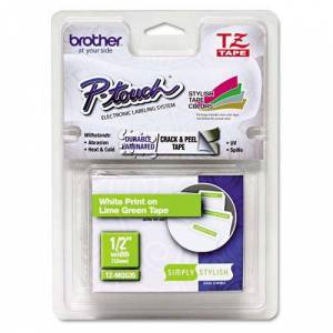 Brother TZe tape 12mmx5m white/green