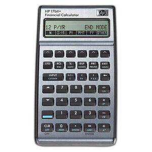 HP Räknare finans HP 17BII+ med nordisk manual