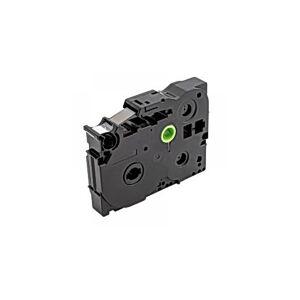 Tape 9mm TZe-421 Svart på Röd
