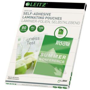 Leitz Självhäftande lamineringsfickor A4 100-pack