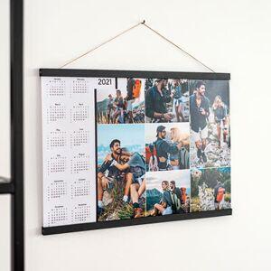 smartphoto Plakatkalender med Plakatophæng 60 x 90 cm Træ