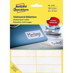 Avery Manuelle Etiketter   62x19 Mm   392 Stk.