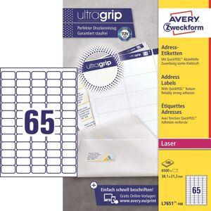 Avery L7651 Etiketter   38,1x21,2 Mm   6500 Stk.
