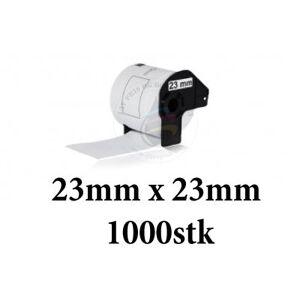 Brother Dk11221 Kvadratisk Label/etiketter (Kompatibel) 23mm X 23mm