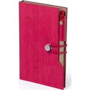 Kuglepen Og Notesbog - Rød