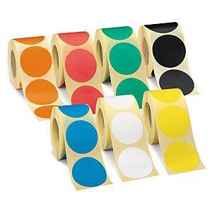 Aftagelig Papir Etiket (500) ø 25 Mm - Hvid