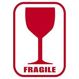 Etiket Til Mærkning Af Gods 38x51mm Rødt Glas Frag.