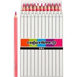 Colortime-värikynät, Pit. 17,45 cm, kärki 5 mm, JUMBO, pinkki, 12 kpl/ 1 pkk