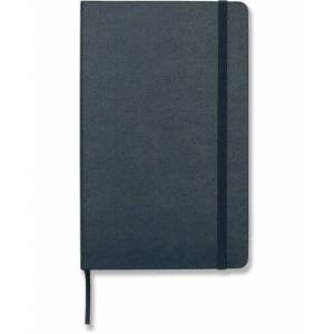 Ruled Hard Notebook Large Sapphire Blue