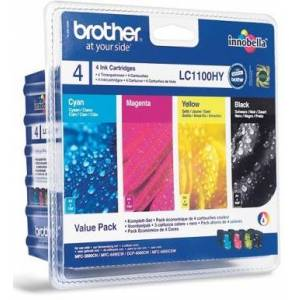 Brother VALUE PACK (LC-1100HY BK/C/M/Y)