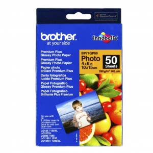 Brother Fotopapir Glossy 10x15 50 ark 260g  BP71GP50 Replace: N/A