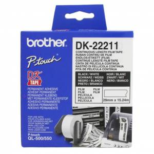 Brother Etikett Brother løpende 29mmx15,24m hvit  4977766628204 Replace: N/A