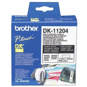 Brother Etikett Brother universal 17x54mm (400)  4977766628167 Replace: N/A