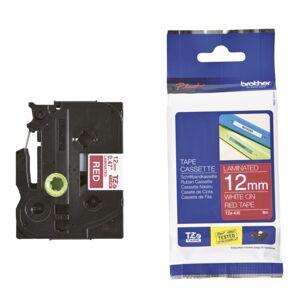 Brother Tape Brother TZE435 12 mm, hvit på rød  4977766686297 Replace: N/A