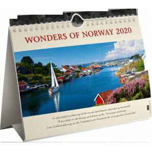 Kalender Kf 21x22 Wonders of Norway: 2020