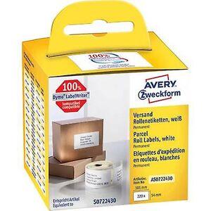 Avery Zweckform Avery-Zweckform Label roll Kompatibel erstattet DYMO, Seiko 99014, S0722430 101 x 54 mm Papir Hvit 220 pc (s) Permanent Shipping et...