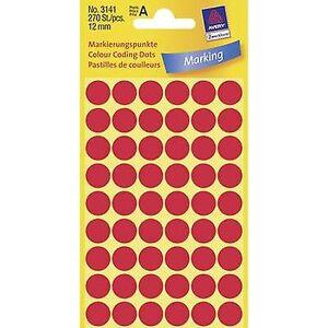 Avery Zweckform Avery-Zweckform 3141 Sticky-prikker Ø 12 mm rød 270-PC (er) permanent papir