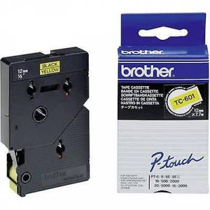 Brother Merking tape bror TC TC-601 Tape farge: gul skrift farge: svart 12 mm 7,7 m