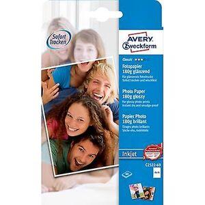 Avery Zweckform Avery-Zweckform klassisk fotopapir Inkjet C2522-60 fotopapir 10 x 15 cm 180 GM ² 60 ark glanset