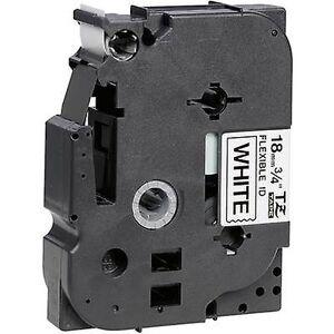 Brother Merking tape (fleksibel) bror TZe-FX, TZ-FX TZe-FX241 Tape farge: hvit skrift farge: svart 18 mm 8 m