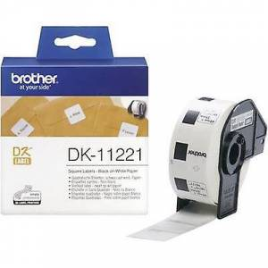 Brother Bror DK-11221 etiketten rulle 23 x 23 mm papir hvit 1000 eller flere PCer Permanent DK11221 All-purpose etiketter