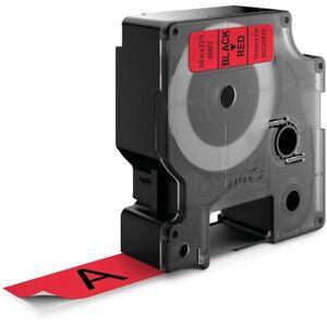 Dymo Standard D1 Teip 19mm Svart på rødt