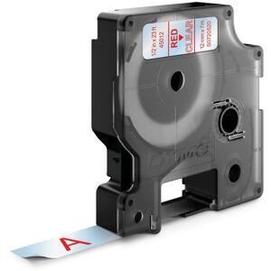 Dymo Standard D1 Teip 12mm Rødt på transparent