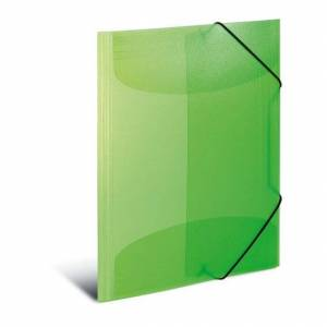 Despec Herma Kraftfull, transparent A3 elastik map, ljus grön 3 st
