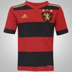 adidas Camisa do Sport Recife I 2017 adidas - Infantil - Vermelho/Preto