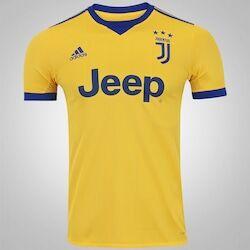 adidas Camisa Juventus II 17/18 adidas - Masculina - Ouro/Azul