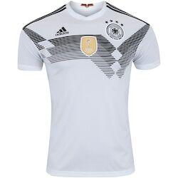 adidas Camisa Alemanha I 2018 adidas - Masculina - BRANCO/PRETO