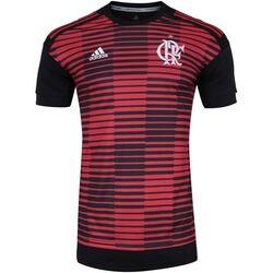 adidas Camisa Pré-Jogo do Flamengo 2018 Longline adidas - Masculina - Vermelho/Preto