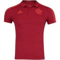 adidas Camisa Polo do Flamengo Viagem 2018 adidas - Masculina - VERMELHO