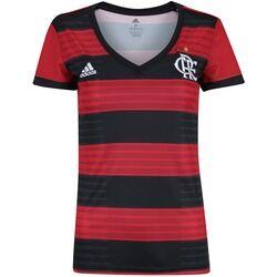 adidas Camisa do Flamengo I 2018 adidas - Feminina - Vermelho/Preto
