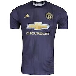adidas Camisa Manchester United III 18/19 adidas - Masculina - AZUL ESCURO