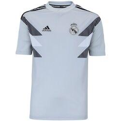 adidas Camisa Pré-Jogo Real Madrid 18/19 adidas - Infantil - CINZA