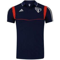 adidas Camisa Polo do São Paulo Viagem 2019 adidas - Masculina - AZUL ESC/VERMELHO