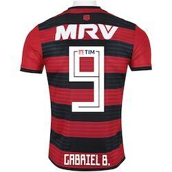 adidas Camisa do Flamengo I 2018 adidas n° 9 Gabriel Barbosa - Masculina - Vermelho/Preto