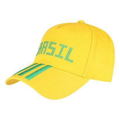 Boné Adidas Brasil Aba Curva 3 Stripes - Unissex