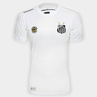 Camisa Santos I 17/18 s/nº Torcedor Kappa Masculina - Masculino