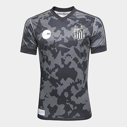 Camisa Santos III 17/18 s/n° - Torcedor Kappa Masculina - Masculino