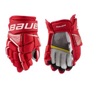 bauer S21 SUPREME ULTRASONIC GLOVE - JR 21/22, hockeyhanske junior 10.0 RED