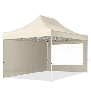 TOOLPORT Easy Up pavillon 3x4,5m Kvalitetspolyester 300 g/m² creme 100 % vandtæt Faltzelt, Klappzelt creme