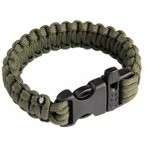 MILRAB Survival Bracelet - Armbånd - Olivengrønn