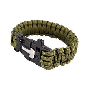 MILRAB Survival Bracelet m/ Fire Starter - Armbånd - Olivengrønn