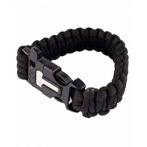 MILRAB Survival Bracelet m/ Fire Starter - Armbånd - Svart