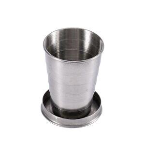 eStore Sammenleggbar kopp i rustfritt stål med karabiner krok