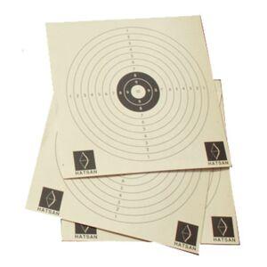 Hatsan Paper Target 10-rings 14x14 cm Hvit