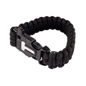 MILRAB Survival Bracelet m/ Fire Starter - Armband - Svart